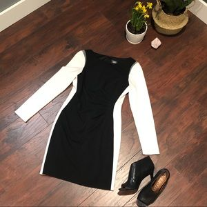 NWOT Vince Camuto Bodycon Black & White with Mesh